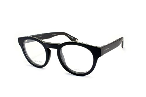 Givenchy GV 0007 QHC Studed Matte Black Plastic Round Eyeglasses 48mm