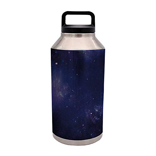 Dark Blue Multi Purpose Vacuum cup,Deep in Awesome Space Ethereal Image Exploration Galaxy Nebula Sky for - Ounce 50 Beverage
