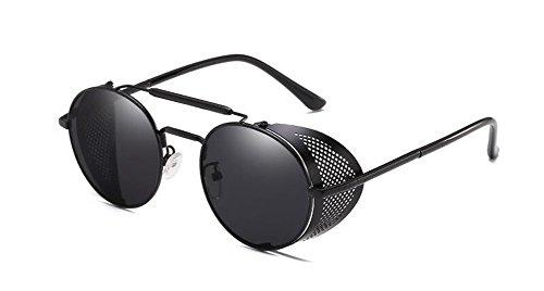 Pièce style de du rond lunettes A Complète inspirées polarisées cercle retro métallique vintage en Lennon Grise soleil wgddqX7O