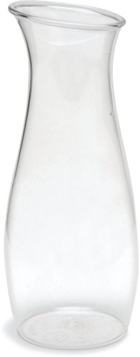 Carlisle 7090207 Cascata Carafe Juice Jar Beverage Decanter Only, Plastic, 1 L, Clear