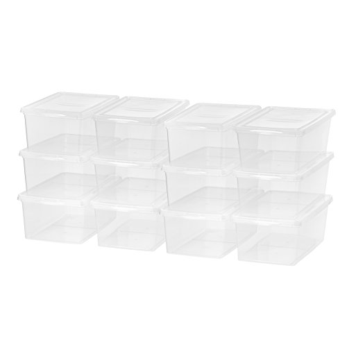 Stack Tote Lids - IRIS USA, Inc. CNL-17 17 Quart Non-Latching Box,