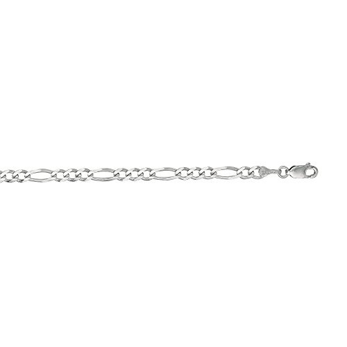 MCS Jewelry 14 Karat Yellow OR White Gold Solid Classic Figaro Chain Bracelet (Length:: 7