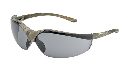 - Elvex WELSG12GCAMO Acer Safety Glasses, Green Forest CAMO Frame, One Size, Grey Lens