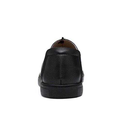LLP di Cuoio degli Uomini LM Occasionali Black Scarpe Scarpe Calzano Casual Scarpe Le rzWrOq8