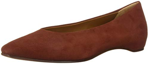 Aquatalia Women's Mary Suede Ballet Flat, Brick, 9 M US