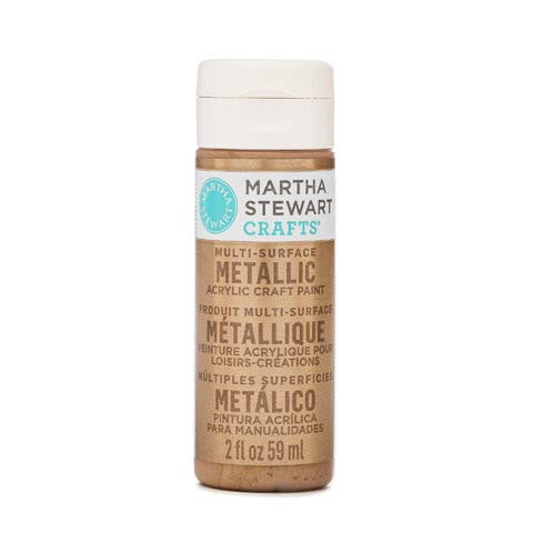Martha Stewart Crafts Multi-Surface Metallic Acrylic Craft Paint in Assorted Colors (2-Ounce), 33001 Rose Gold ()