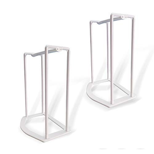 SAIYIDANZI Clothes Hanger Organizer Rack Lightweight Sturdy Plastic Clothes Hanger Caddy Storage Holder Stacker for Closet & Room Tidier Laundry Rooms Drying Rack (White-2 Pack) by SAIYIDANZI