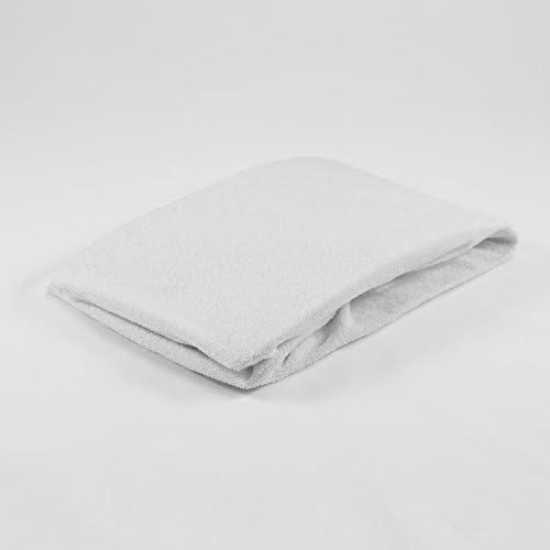 bébé matelas en mousse 40 x 90 BLANC + 2 éponge draps-housses 40 x 90 Blanc