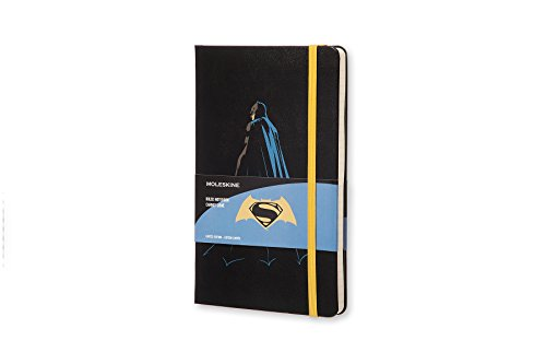 Moleskine Batman vs Superman Limited Edition Notebook, Large, Ruled, Black, Batman, Hard Cover (8055002851527)