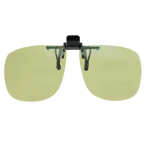 Yellow Clip Ons with 100% UV - Glaucoma Sunglasses
