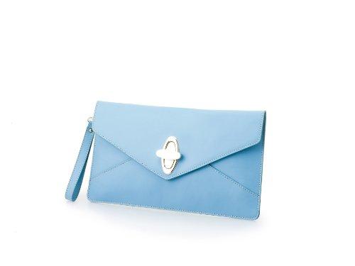 Nardelli - Bolso de asas de Piel para mujer Azul azul celeste 31 x 18