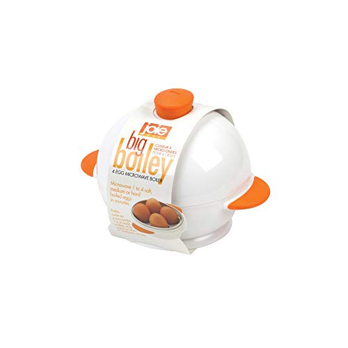 MSC International Joie Big Boiley White and Orange 4 Egg Microwave Boiler 50986-HIC ()