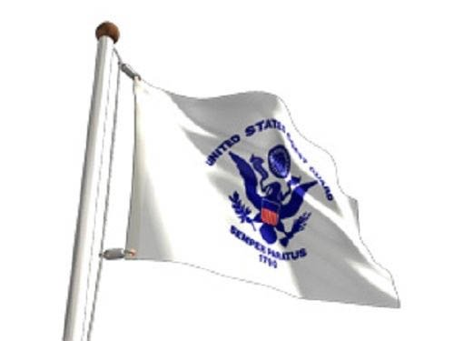 Usa / Us Coast Guard 2X3 Flag Banner Double Sided Indoor/Outdoor 2 Ply