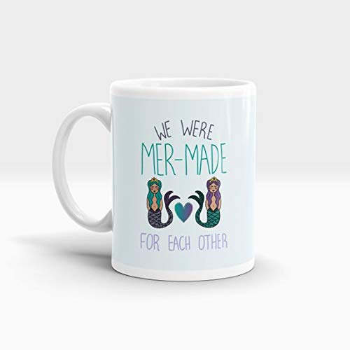 We Were Mer-Made For Each Other Mug - Mermaid - Pun - Homeware - Coffee Mug - Gifts for her - Sapphic - Birthday Gift - Christmas gift