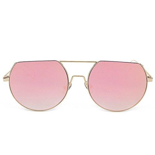 Gafas de Lady C1 de marco estilo pink de Frame MAIDIS hombre conducción Gold Street sol Gafas de sol medio Gafas Hxw64vOS0q