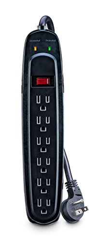 V7 SA0604B-8N6 Surge Protector - 6-Outlet Home/Office Surge Protector - SA0604B-8N6 by V7