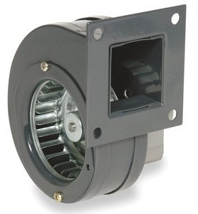(Dayton Rectangular OEM Blower With Flange, Voltage 115, 3233 RPM, Wheel Dia. 2-15/16