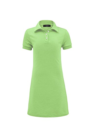 MBJ Kids KDR1511 Mommy and Me Short Sleeve Polo Dress - Made in USA KM Mint by MBJ Kids (Image #3)