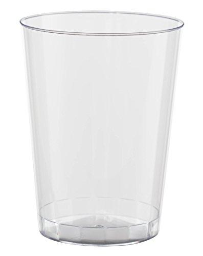 Exquisite 120 Count 10 Oz. Elegant Clear Plastic Cups - Bulk Pack Disposable Party Wedding Tumblers -