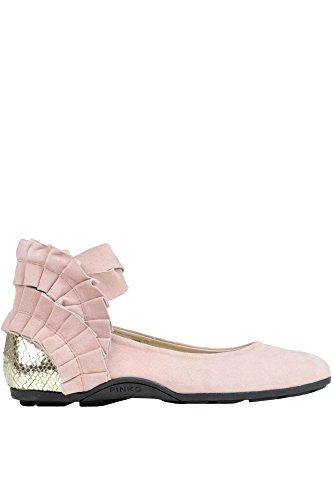 PINKO Damen MCGLCAB03015E Rosa Wildleder Ballerinas