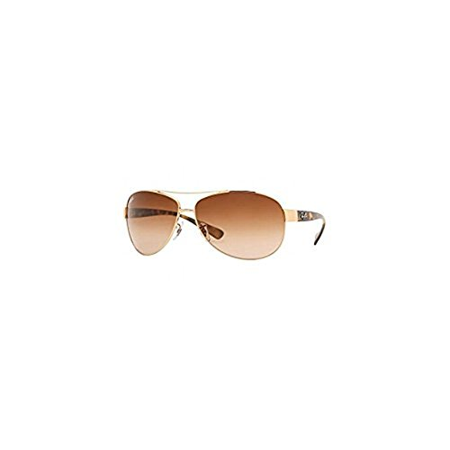 Ray-Ban RB3386 RB3386 Sunglasses Arista / Brown Gradient 63mm & Cleaning Kit - Rb3386 Rayban