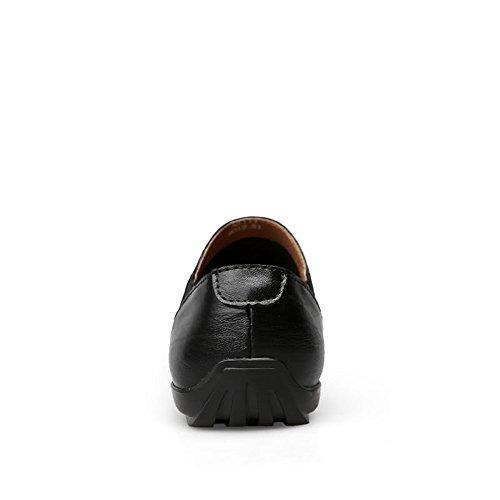 da mocassini Nero con Color Mocassini Scarpe Da shoes Shufang Mocassini 2018 casual EU fodera e uomo Uomo 41 minimalista Dimensione 0ZvOSwna