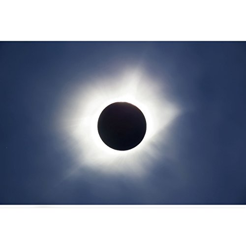 2017 Solar Eclipse Photo Blue Sky Eclipse by TravLin Photography, Multiple Sizes (5x7 to 24x36) by TravLin Photography