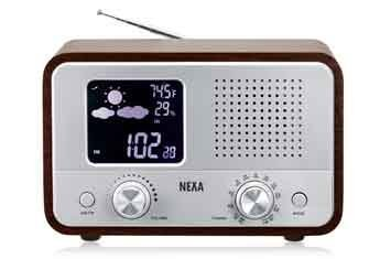 Nexa Weather Station Radio with In/Out Thermometer by NeXa by NeXa