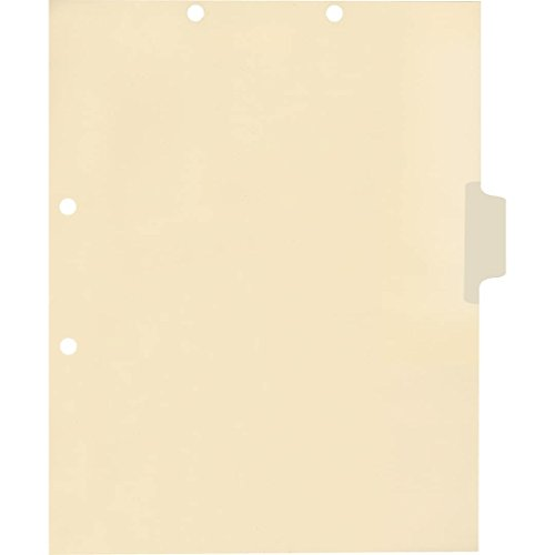Medical Arts Press Match Write-On Side Tab Chart Dividers- Blank, Position 3 (100/Pkg) ()
