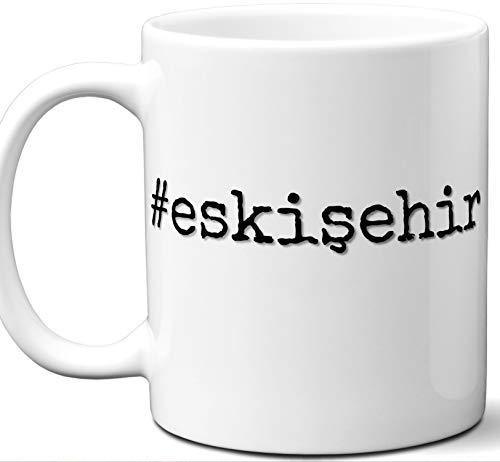 #eskişehir Gift Hashtag Mug. Cool, Hip, Unique Eskişehir, Turkey City Hash Tag Themed Tea Cup Men Women Fan Lover Birthday Mothers Day Fathers Day Christmas Coworker.