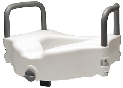 Lumex Locking Raised Toilet Seat with Removable Arms, White by Lumex