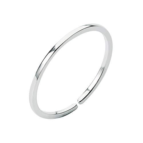 Minimalist Sterling Adjustable Stacking Wedding product image