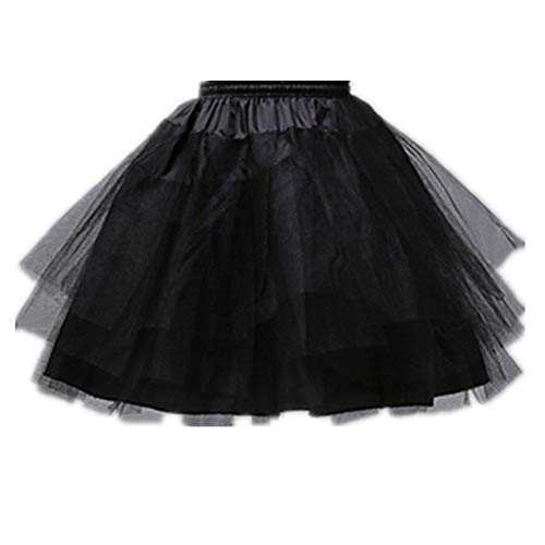 QueenDress Kids Hoopless Mini 3 Layers Wedding Flower Girl Petticoat Underskirt Crinoline Slip ()