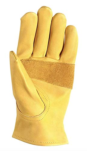 Wells Lamont Premium Leather Work Gloves, Medium (1209M)