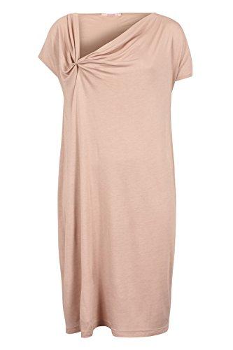 Ausschnitt und mit bloom Raffung asymmetrischem Beige Kleid qIw55t6BA