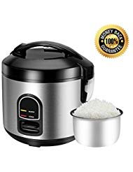Electric Rice Cooker Food Steamer – Small 5 Cup Uncooked Mini Rice Maker Steamer for Grains and Hot Cereal with One Touch Control and Automatic Keep Warm Function 5