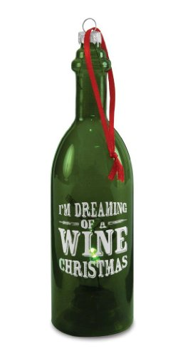 Pavilion Gift Company Wine All The Time 22051 Wine Bottle, Wine Christmas, 7-Inch
