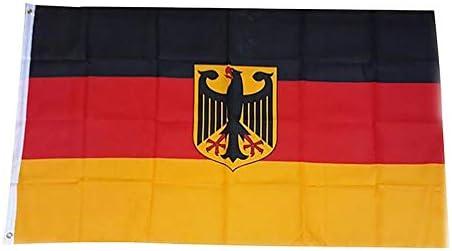 Hongma フラッグ 旗 ドイツ 鷹 ポリエステル ハンドメイク 手芸 印刷 実用 耐久性 色褪せにくい 多機能 アクセサリ