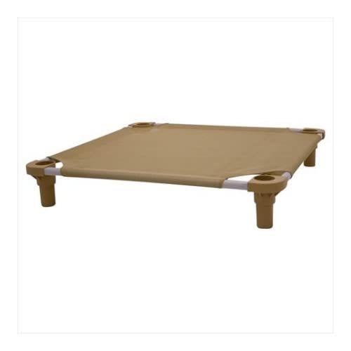 85%OFF 4Legs4Pets C-TA2222GD 22 x 22 in. Tan with Gold Legs Unassembled Pet Cot