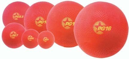 16'' Red Playground Kickball (Set of 5) by Olympia Sports