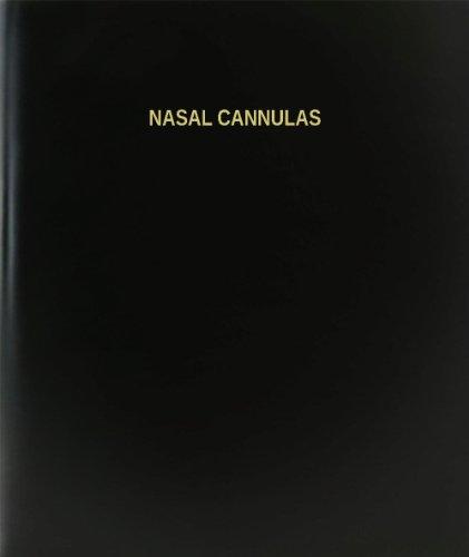 "BookFactory Nasal Cannulas Log Book / Journal / Logbook - 120 Page, 8.5""x11"", Black Hardbound (XLog-120-7CS-A-L-Black(Nasal Cannulas Log Book))"