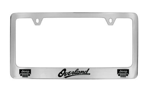 amazoncom jeep overland chrome plated metal license plate frame holder automotive