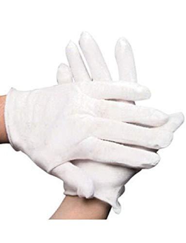 Teen Ladies Child White Sheer Economy Costume Gloves (Economy Gloves Welding)