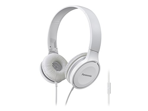 Panasonic Headphones RP HF100M W Integrated Travel Fold