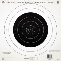 Champion Traps and Targets 40777 NRA Paper TQ-4(P) 100-yard Single Bullseye to Train or Qualify Target (Pack of 100) by Champion Traps and Targets