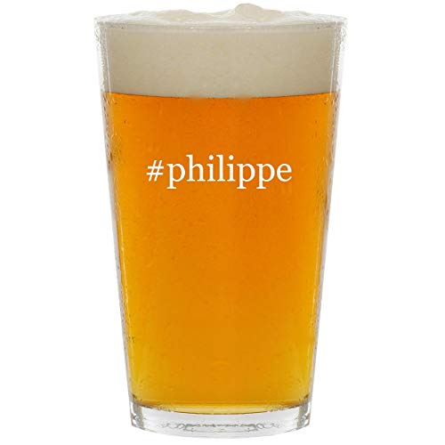 (#philippe - Glass Hashtag 16oz Beer Pint)