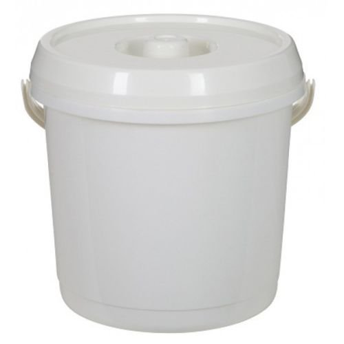 Plastic Bucket With Lid Carry Handle Ideal for Nappy Disposal Bin / Tub / Bucket / Animal Feed / Bird Seed by S&MC Homeware ()