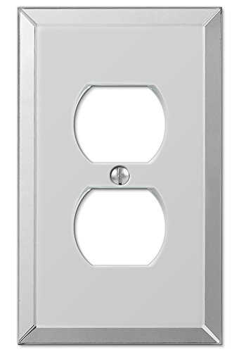 Amerelle Mirror Single Duplex Wallplate in Clear Mirror