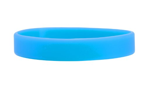 (Sussex Supplies Plain Sky Blue Silicone Wristbands (Pack of 5))