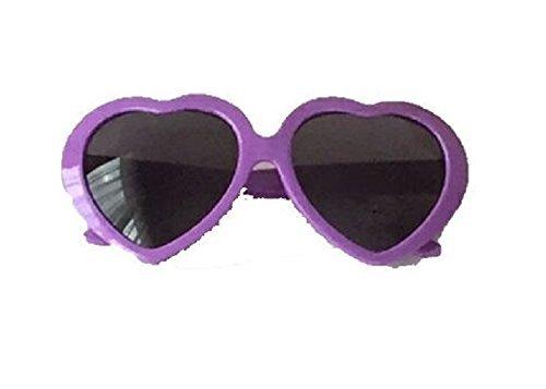 de 13 LOVE S verano sol morado forma Gafas blanco cm con marco width plástico corazón en de 5 de de 7ZdqnZ